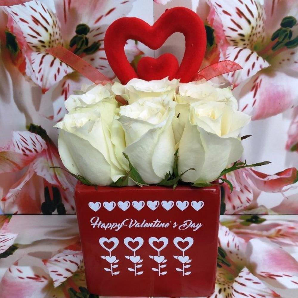 Βαλεντίνος λευκά τριαντάφυλλα