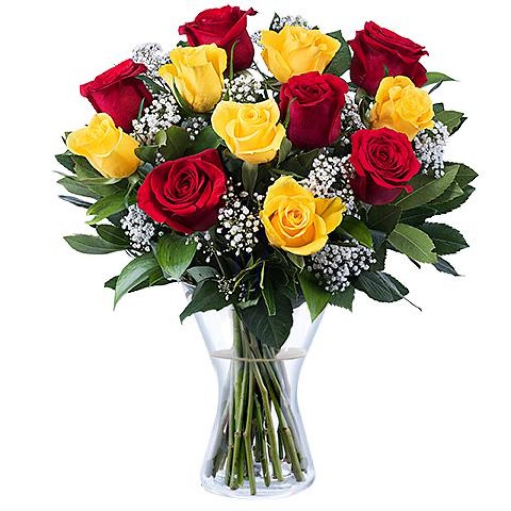 Κόκκινα κίτρινα τριαντάφυλλα