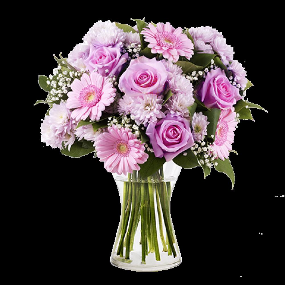 Ροζ τριαντάφυλλο ζέρμπερα
