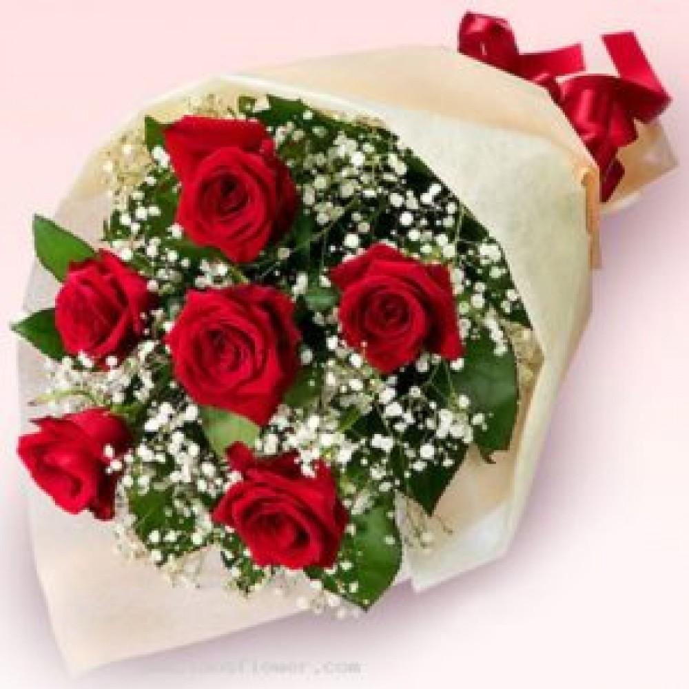 Ανθοδέσμη κόκκινα τριαντάφυλλα