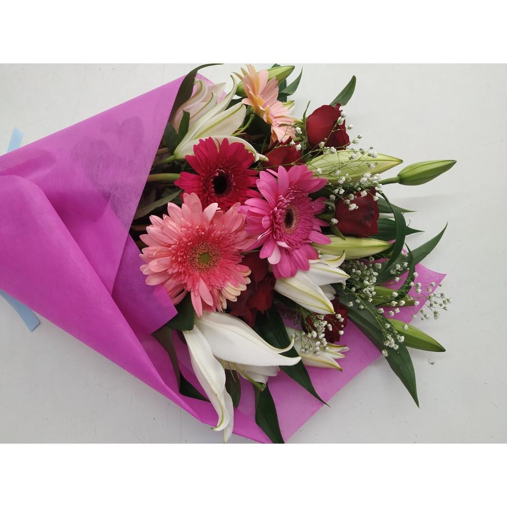 Λίλιουμ  ζέρμπερα τριαντάφυλλα NAOMI