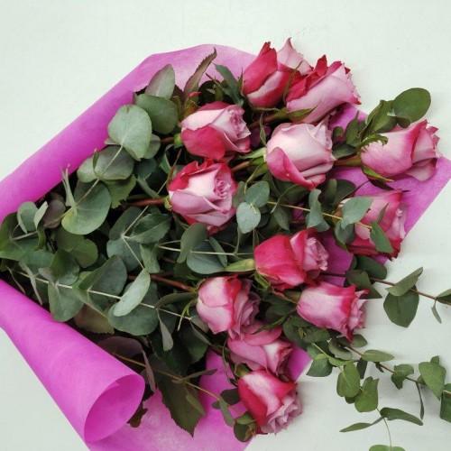 Ανθοδέσμη Φούξια Τριαντάφυλλα