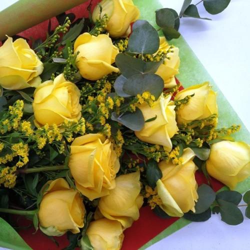 Ανθοδέσμη Τριαντάφυλλα Κίτρινα